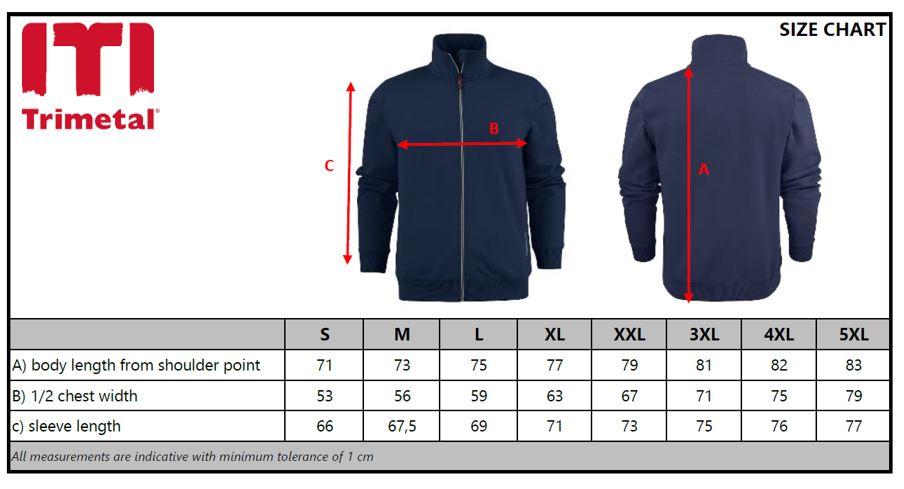 Size Chart Sweatshirt