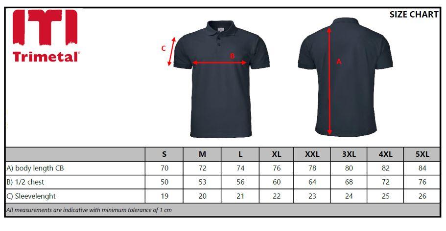 Size Chart polo